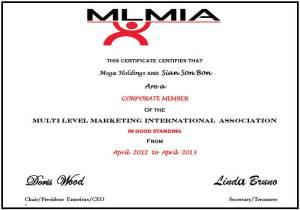 network marketing mlmia Mega Holdings MLMIA Sertifikası MLMIA Sertifikası mlmia megaholding 300x210