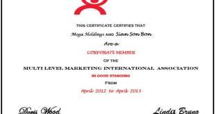 mega holding nedir Mega Holdings MLMIA Sertifikası MLMIA Sertifikası mlmia megaholding