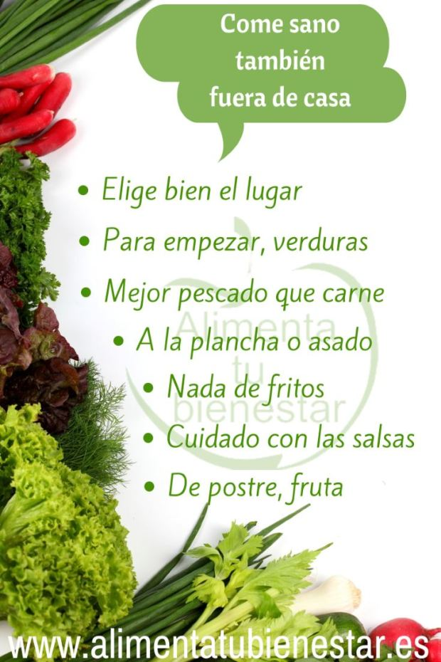Come sano fuera de casa