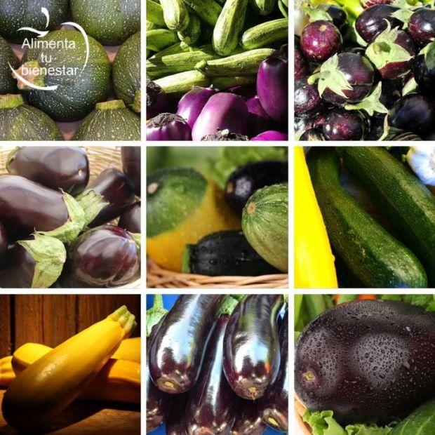 Verduras antioxidantes propiedades calabacín y berenjena