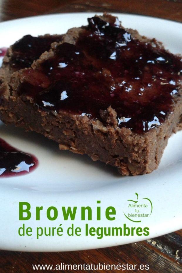 alimentos que sacian brownie de puré de legumbres