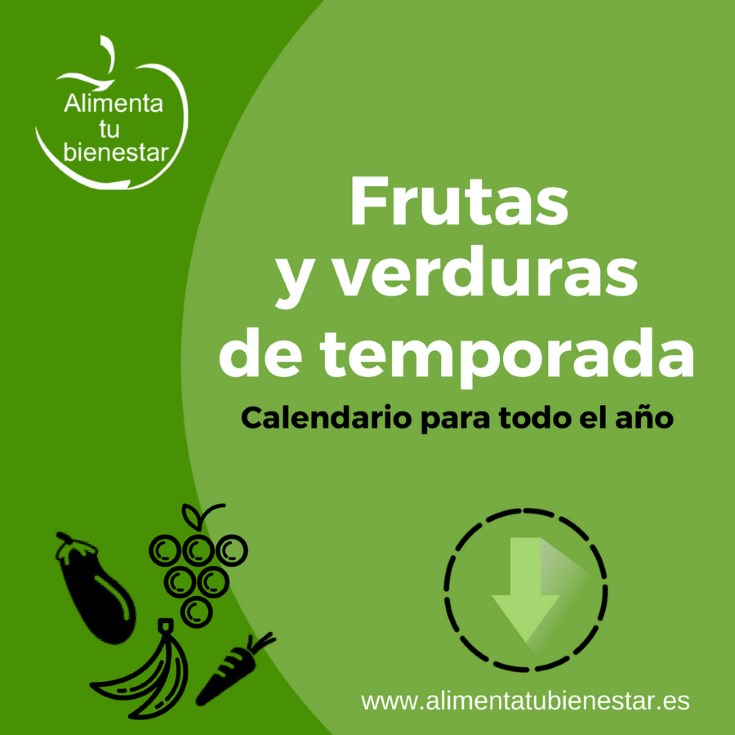 Frutas y verduras de temporada calendario descargable