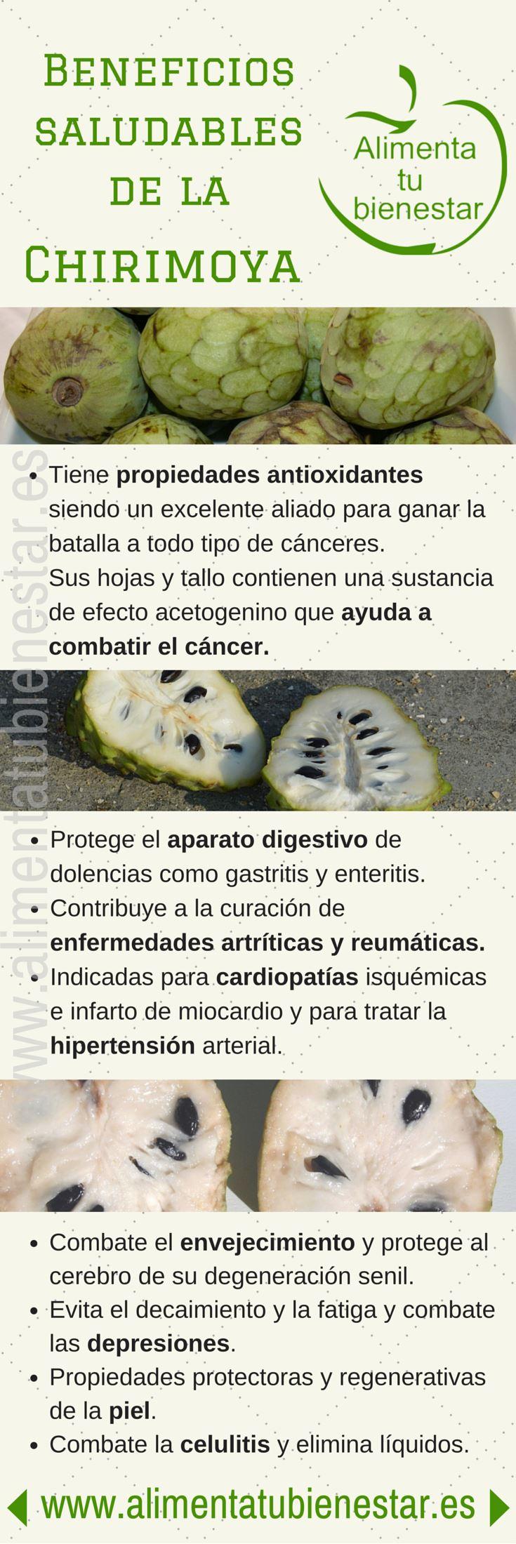 Beneficios saludables de la chirimoya