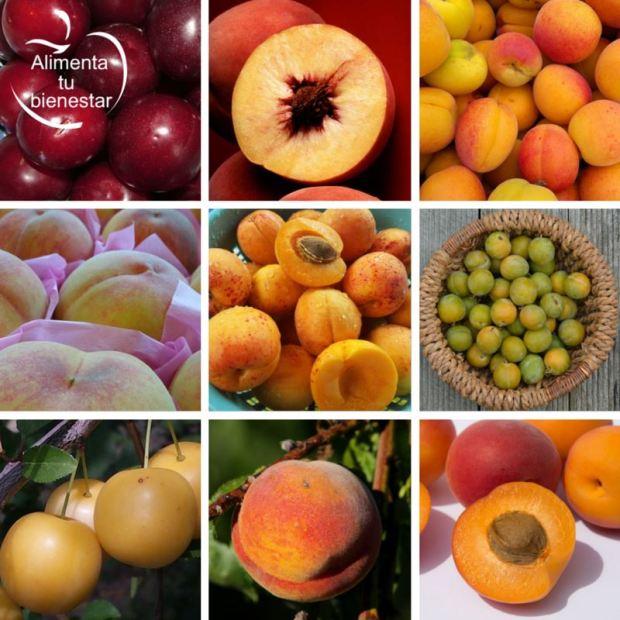 Frutas para junio: albaricoques, melocotones y ciruelas