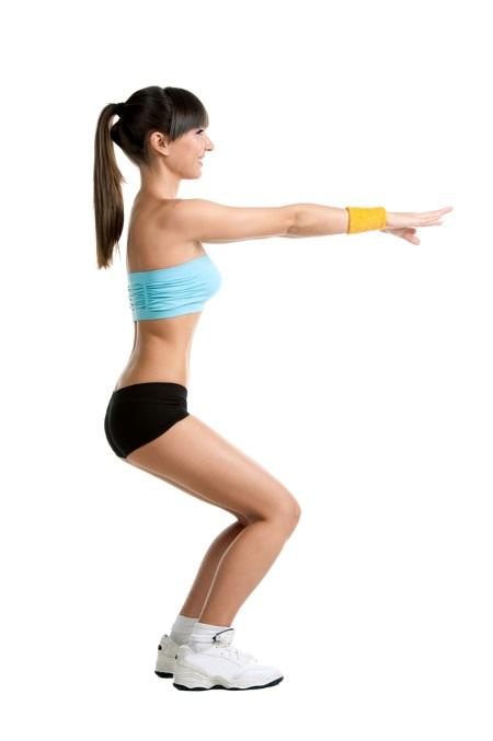 ejercicios de gimnasia - sentadillas