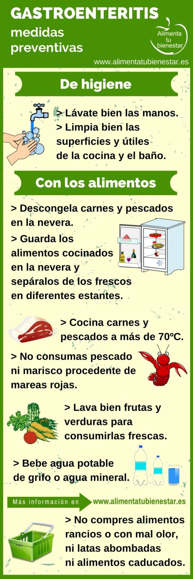 Gastroenteritis: medidas preventivas
