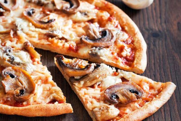 Pizza integral de champiñones
