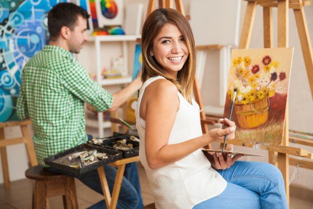 aficiones saludables como la pintura