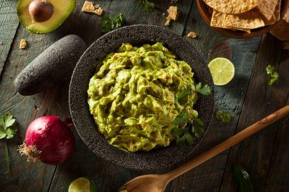 aperitivos saludables - guacamole casero