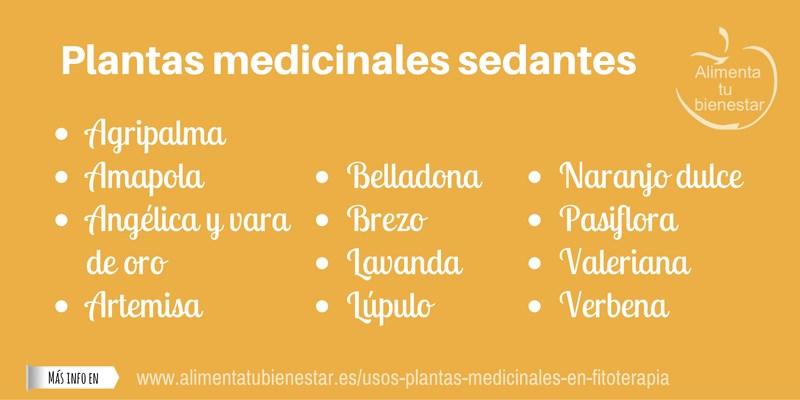Plantas medicinales sedantes
