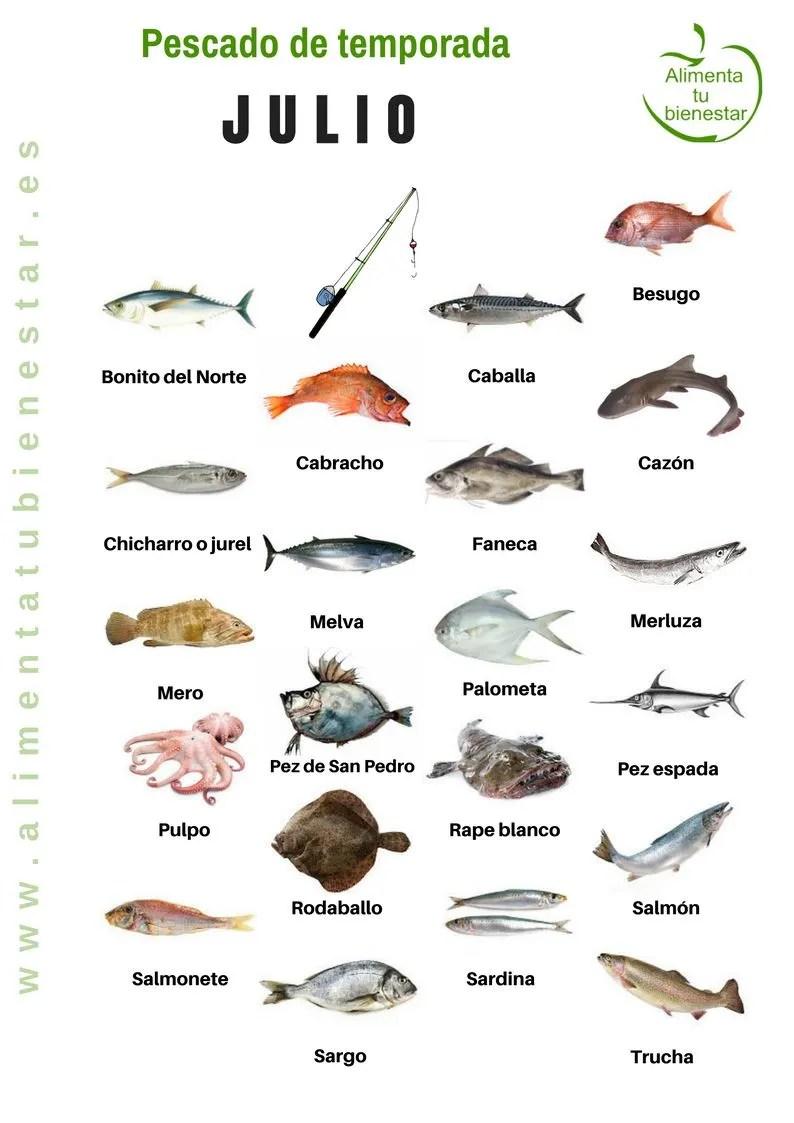 Pescado de temporada en julio