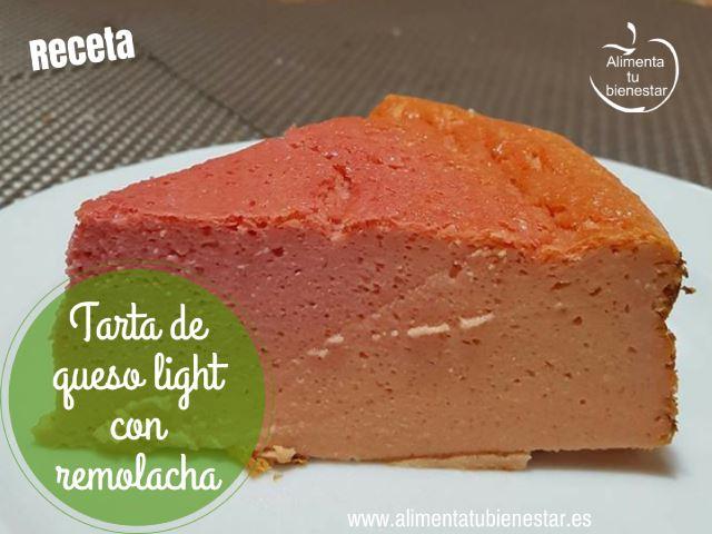 Tarta de queso light con remolacha