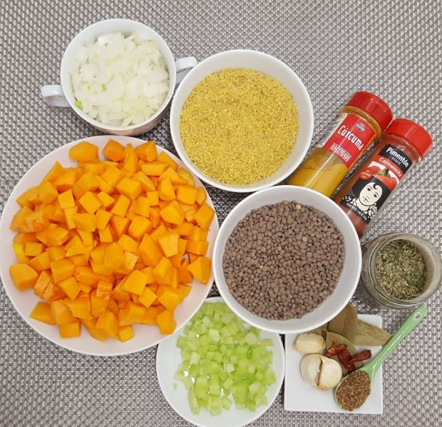 Guiso de lentejas ingredientes