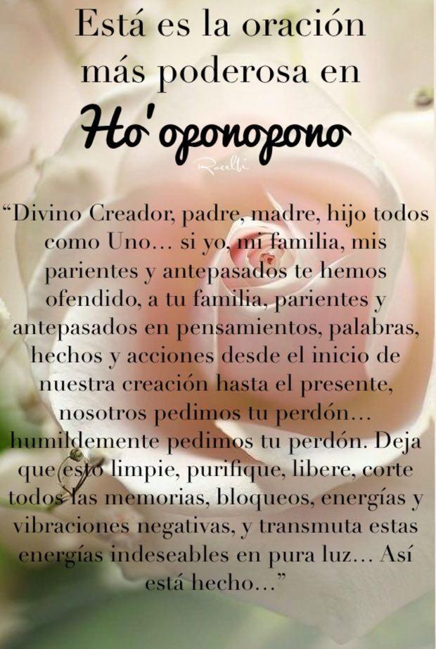 oración más poderosa del Hoʻoponopono