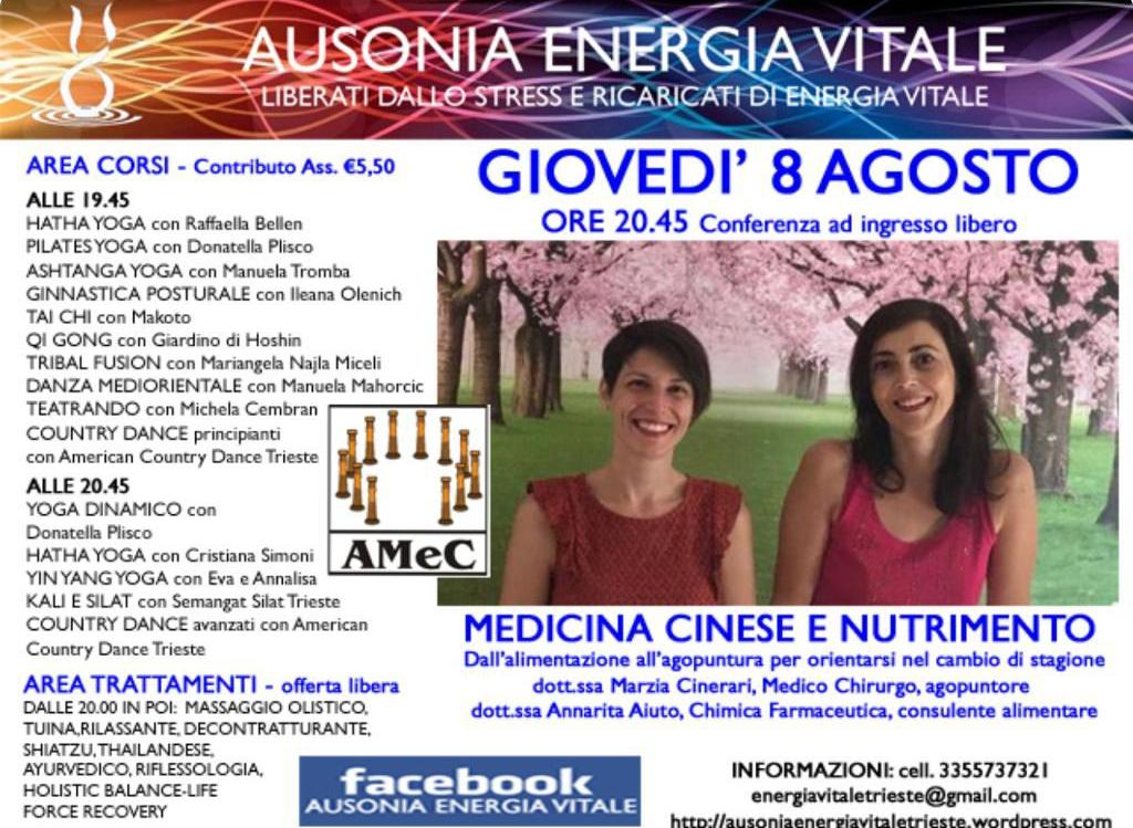 Medicina Cinese e Nutrimento all'Ausonia