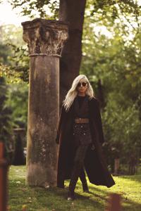 Oversized coat & tartan