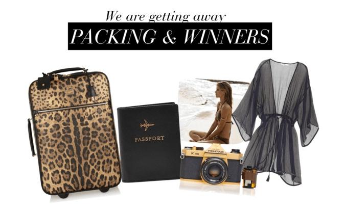 Packing stuff & giveaway winner