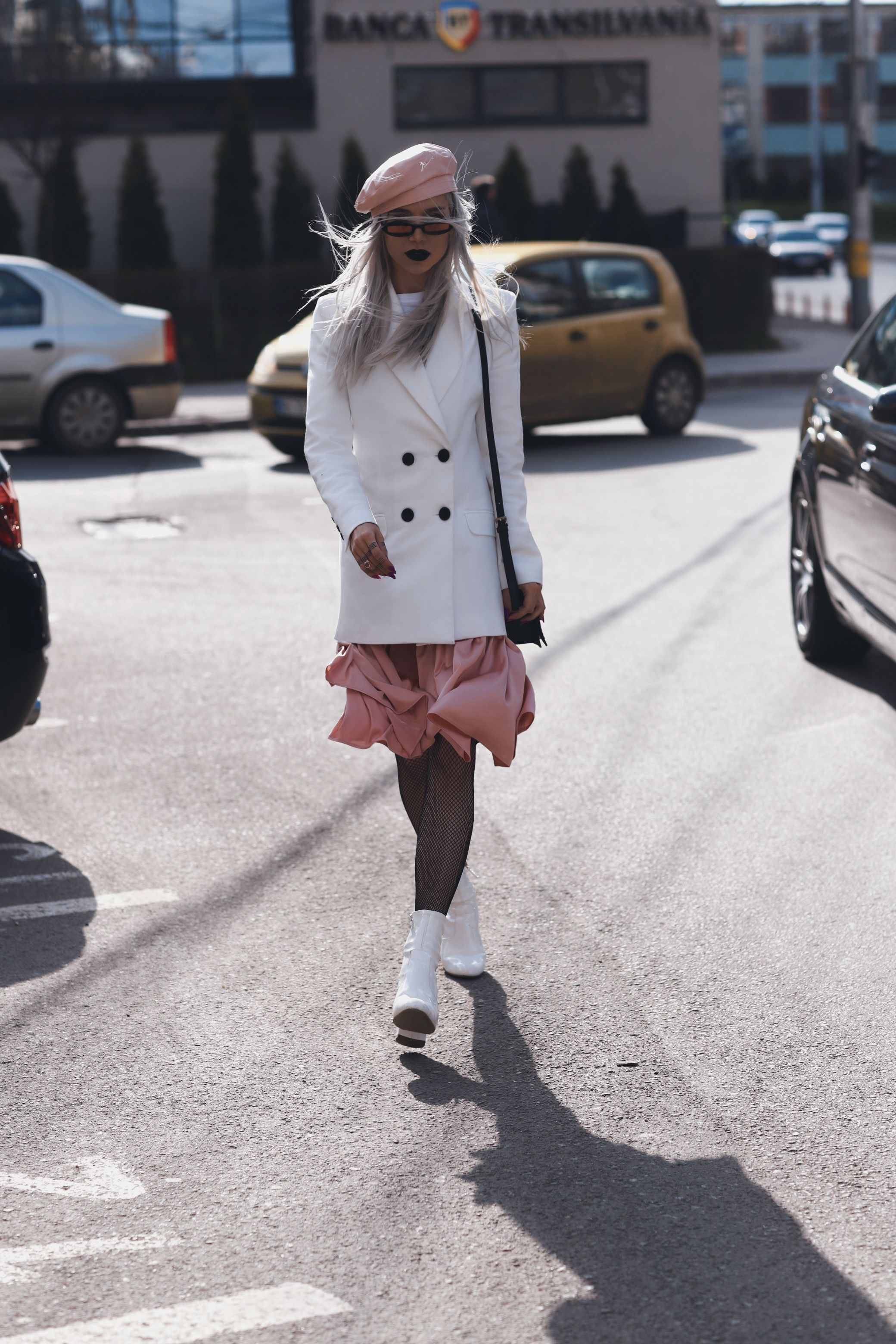 LOOKS: Black And White + Pink Silk