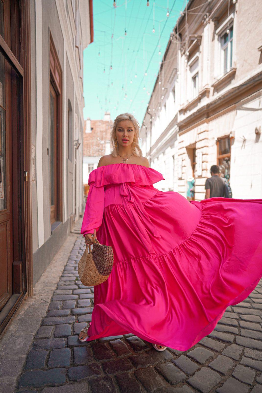 Bel Air Maxi Dress – a summer statement #ALINAxIngridTeodosiu