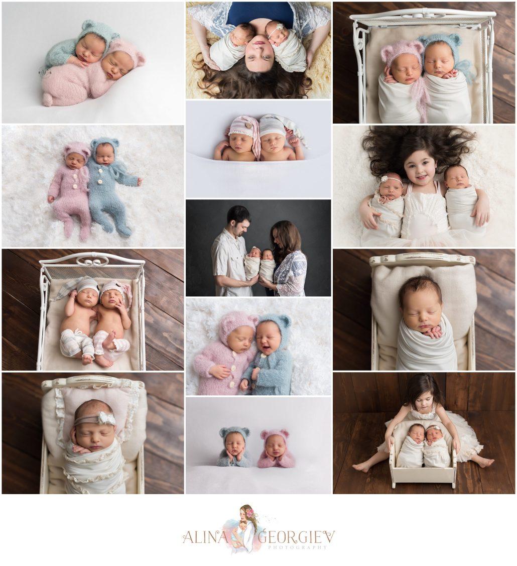 Plano Newborn Photographer Twins Newborn Session Zeke ZoeBeth
