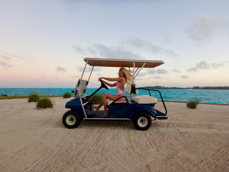 Every villa comes with a golf cart to get around the property! So fun to just drive around especially during sunset and see the entire golf course!