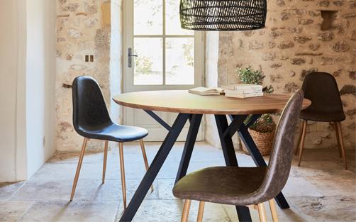table ronde meubles de salle a manger