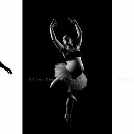 Photographe, danseuse, studio, grossesse, femme, enceinte, aline deguy
