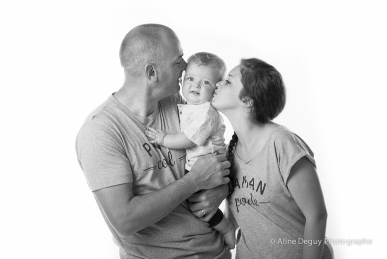 Photographe, Paris, Emoi Emoi, Tee shirt maman poule, Tee shirt papa cool, studio, Paris, vêtements, grossesse, Aline Deguy
