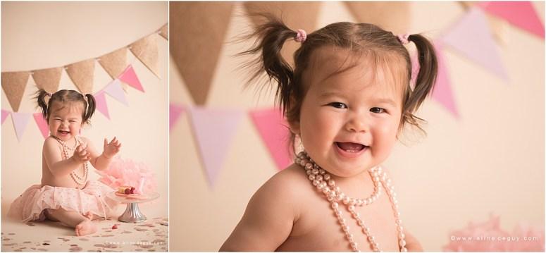 photographe bébé Nanterre, studio photo bébé, smash the cake, anniversaire bébé, photos anniversaire bébé, sourire de bébé, bébé métissé