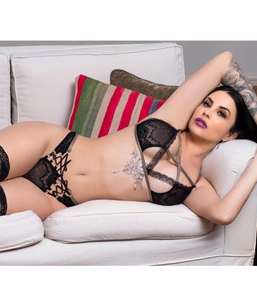 conjunto Elementar Capricórnio da Aline Lingerie traz a forte expressão da natureza sensual, pura e perfeita.