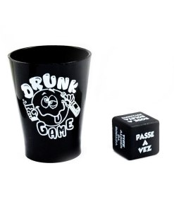Drunk Game com Copinhos de Shot, Roleta e Dado