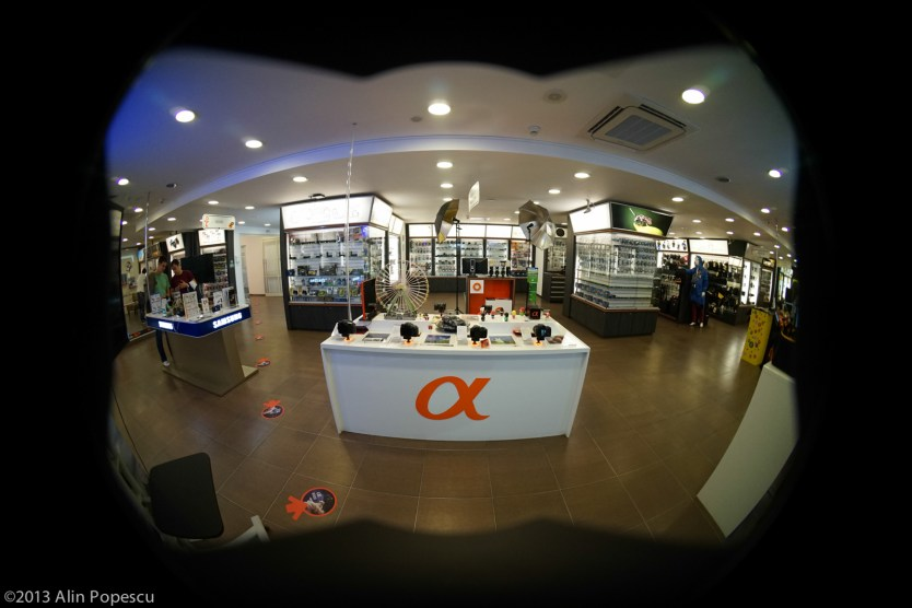 Sony 16 mm f2.8 + fisheye adapter