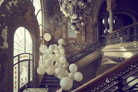 The most difficult part was to have the balloons get over two rounds of stairs