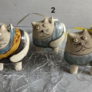 Ceramic cat christmas tree decorations