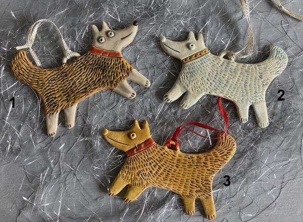 ceramic dog christmas tree decoration