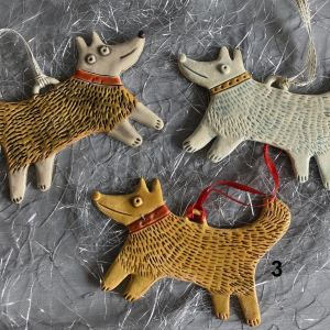 ceramic dog christmas tree decoration