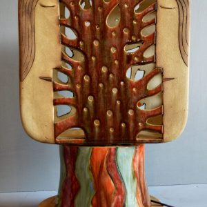 Ceramic lamp in form of tree