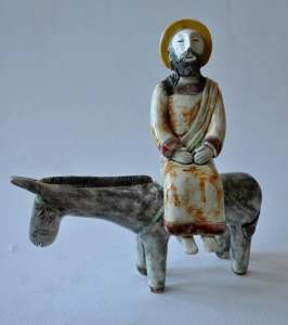figurative-ceramics - 1a.Entry-of-the-Lord-into-Jerusalem.-faience-glaze.-h17.-2011