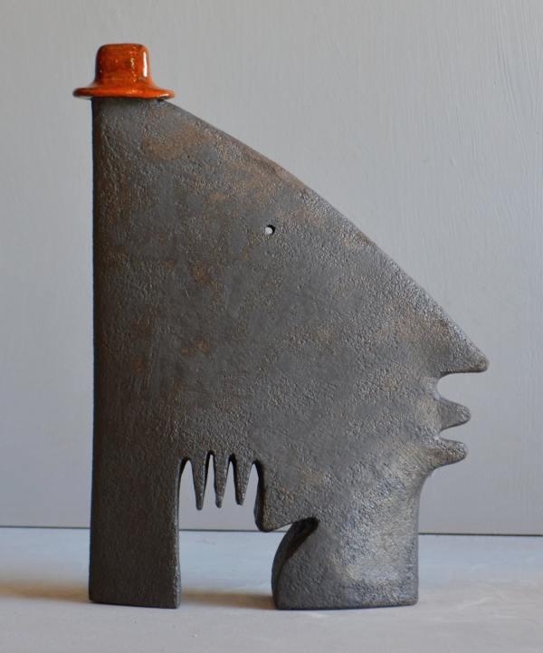 sculpture - Man-in-red-hat