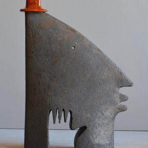 sculpture - Man-in-red-hat