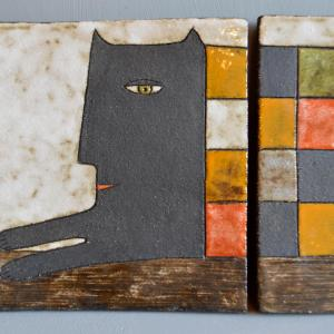 wall-panels - lying-cat-triptych-1
