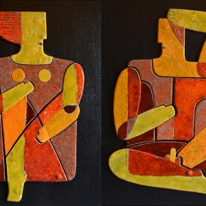 on-board - Adam-Eve-diptych-60x80