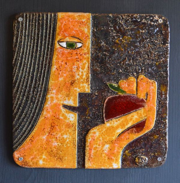 on-board - Beginnings-triptych-ceramic-panels-on-board-90x90-1