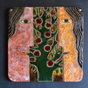 on-board - Beginnings-triptych-ceramic-panels-on-board-90x90-2