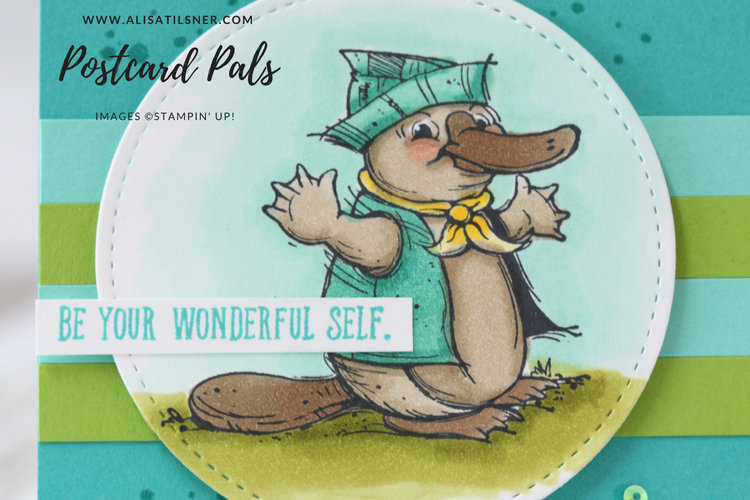 Stampin Up Postcard Pals