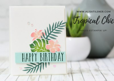 Stampin Up Tropical Chic