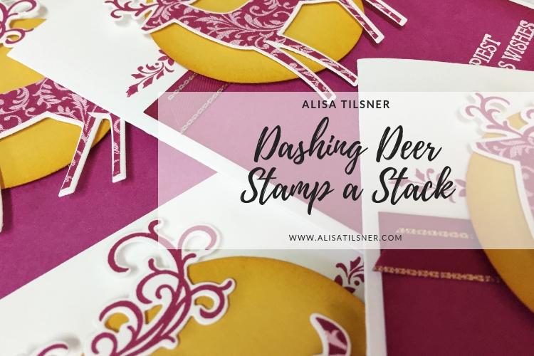 Dashing Deer Stamp a Stack