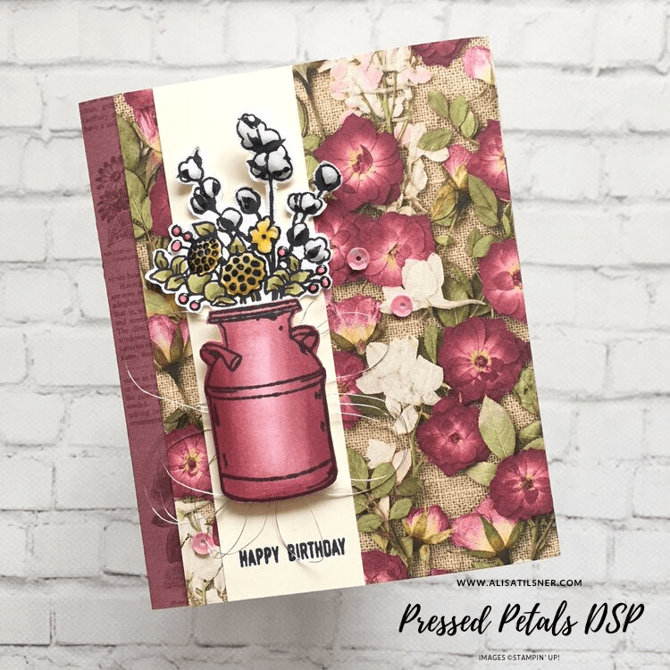 Pressed Petals Designer Series Paper from Stampin' Up! Card created by Alisa Tilsner.