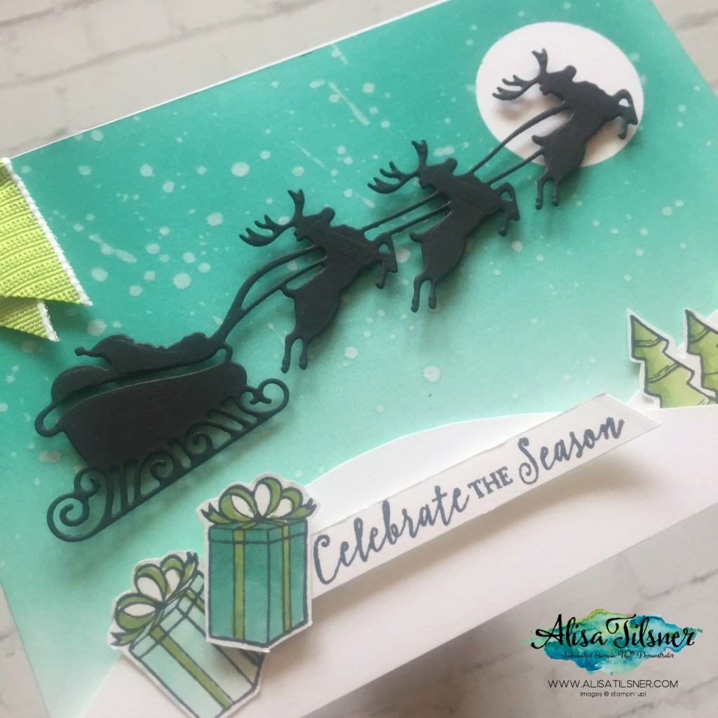 Holly Jolly Christmas Bundle by Stampin' Up!.  Card created by Alisa Tilsner