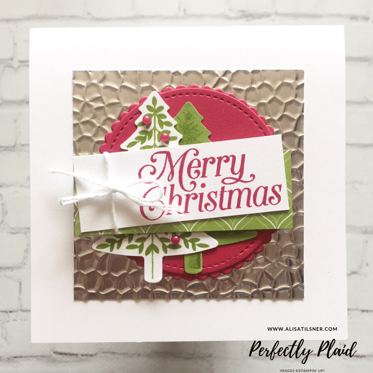 Perfectly Plaid Stamp Set and Punch by Stampin' Up!  Card created by Alisa Tilsner